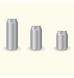 Aluminium cans set vector