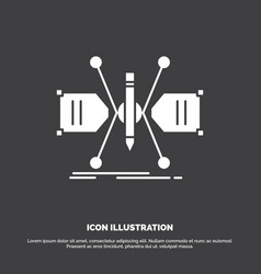 architect constructing grid sketch structure icon vector image