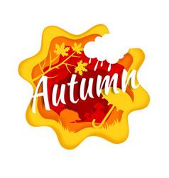autumn season composition in vector image