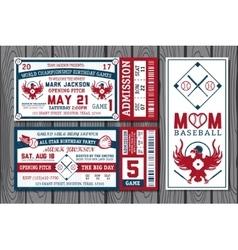 Baseball labels vector