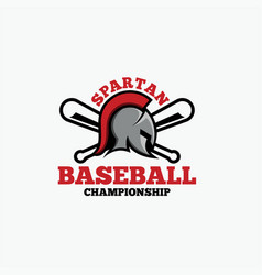 baseball spartan logo vector image