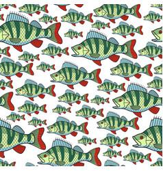 bass fish repeat pattern vector image