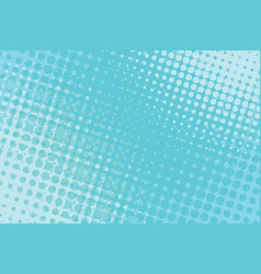 blue pop art halftone background vector image
