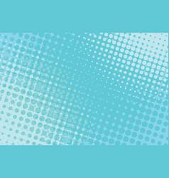 blue pop art halftone background vector image