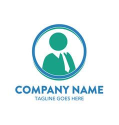 Businessman logo vector