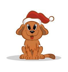 Christmas-pup vector