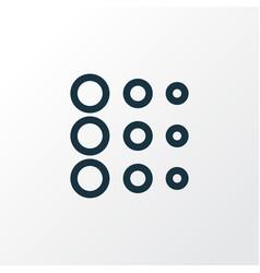 circle icon line symbol premium quality isolated vector image