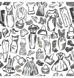 Clothing for women is seamless pattern vector image