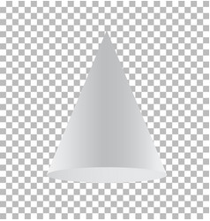 cone isolated on transparent background cone vector image