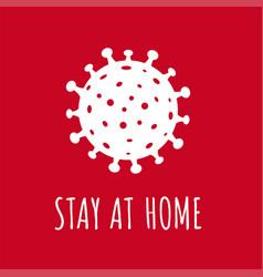 coronavirus poster isolated red background vector image