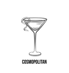 Cosmopolitan cocktail glass vector