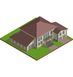 Cottage Estate isometric vector image vector image