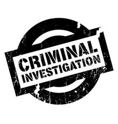 criminal investigation rubber stamp vector image