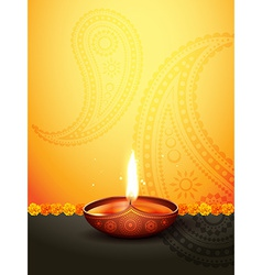 diwali greeting vector image