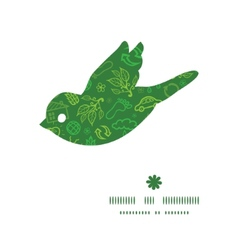 Ecology symbols bird silhouette pattern frame vector