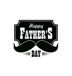 fathers day icon with black mustaches vector image