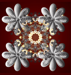 flat design snowflake icon isolated snowflake vector image vector image