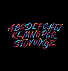 Full color handwriting paint brush lettering latin vector