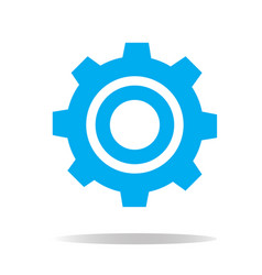 gear icon on white background gear sign vector image