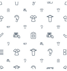 Graphics icons pattern seamless white background vector