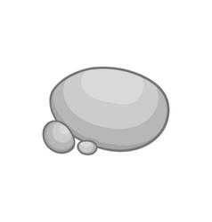 Gray stones icon in cartoon style vector