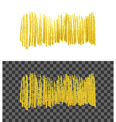 hand drawn gold colors paint smear vector image