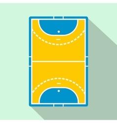 Handball field flat icon vector