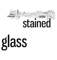 how to buy stained glass vector image