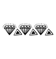 Isolated diamond draw design vector