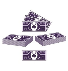 Japanese yen vector image