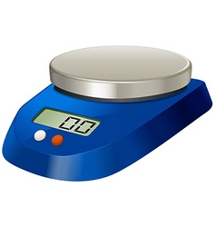 Lab measuring scale with metal plate vector