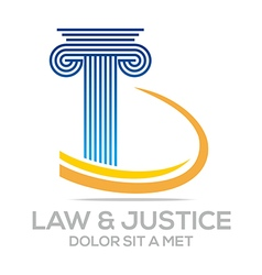 Law building and justice icon logo vector