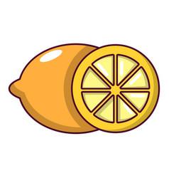 lemon icon cartoon style vector image