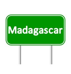 Madagascar road sign vector