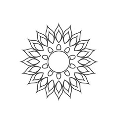mandala icon design template isolated vector image