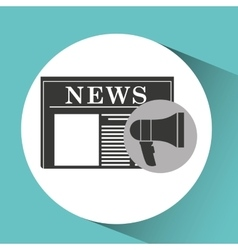 Megaphone speaker news icon graphic vector