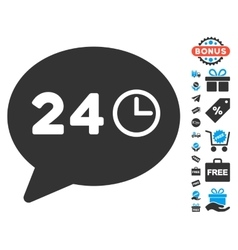 Message Hours Icon With Free Bonus vector
