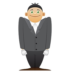 Modest office man vector image