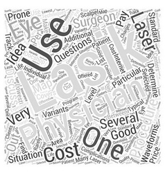My questions about the lasik procedure word cloud vector