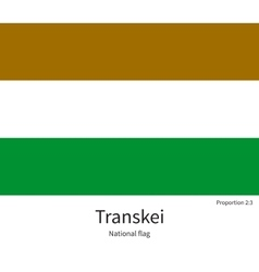 National flag of Transkei with correct proportions vector