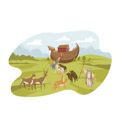 Noahs ark bible concept vector