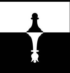 pawns silhouette with queen ambition chess vector image