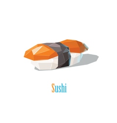 polygonal of sushi Japanese cuisine modern food vector image