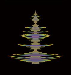 Rainbow pulse player logo on black vector