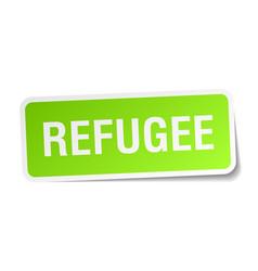 Refugee square sticker on white vector