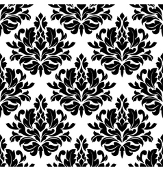 Retro damask seamless pattern vector