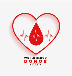 Save blood concept for world blood donor day vector