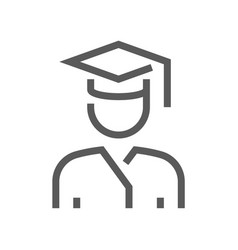 school and university flat line icon vector image