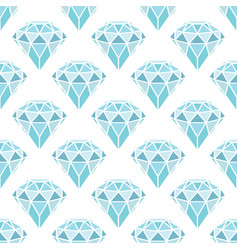 seamless pattern of geometric blue diamonds on vector image
