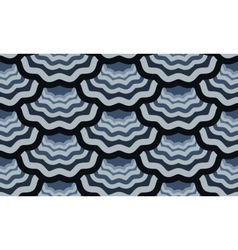 seamless scale wavy pattern vector image